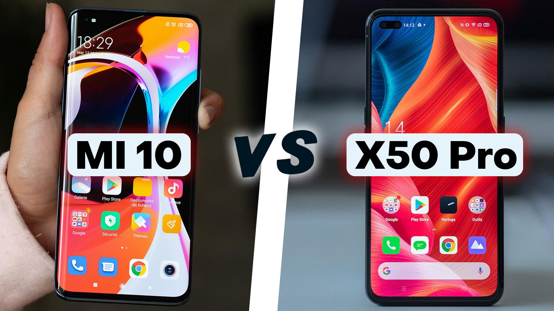 mi 10 vs x50 pro