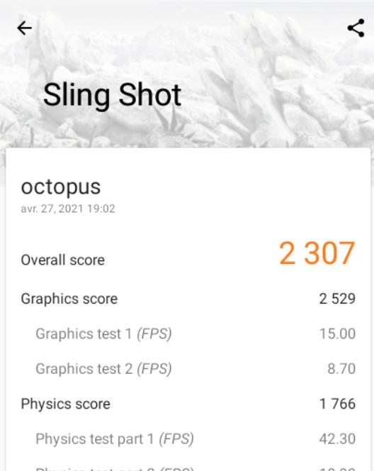 Acer Chromebook 311 - Score 3D Mark