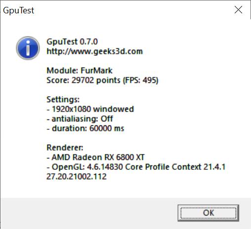 Test 6800 XT MSI X trio