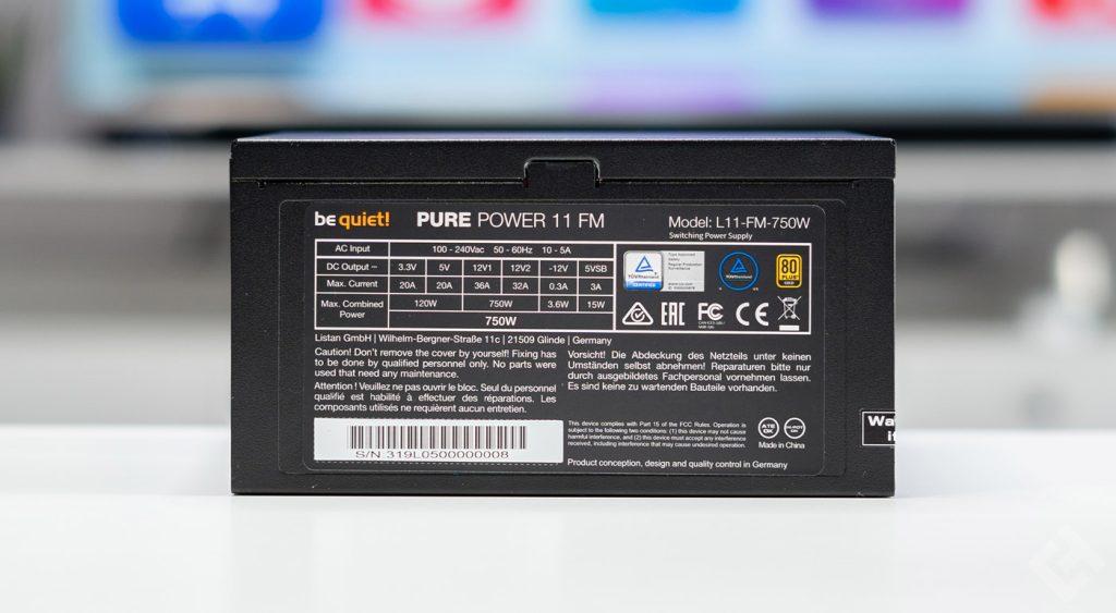 test be quiet pure power 11 750 fm