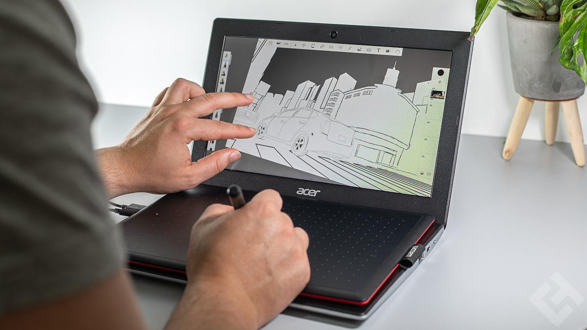 Combo Acer ChromeBook 311 & Wacom One By Wacom - Utilisation