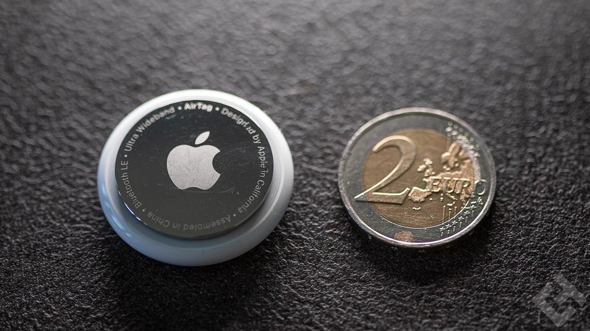 Apple AirTag - Comparaison taille