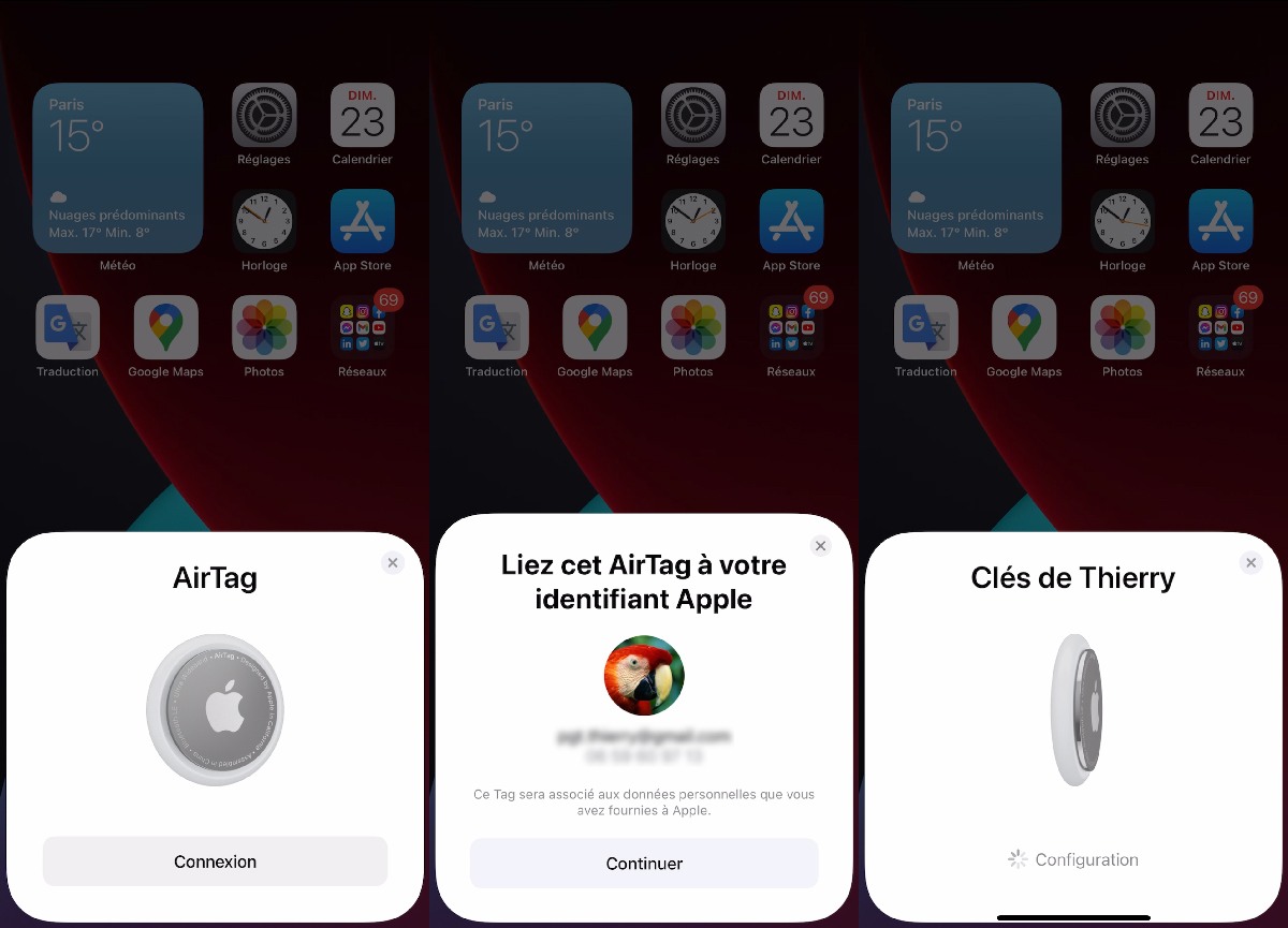 Apple AirTag - Mise en route