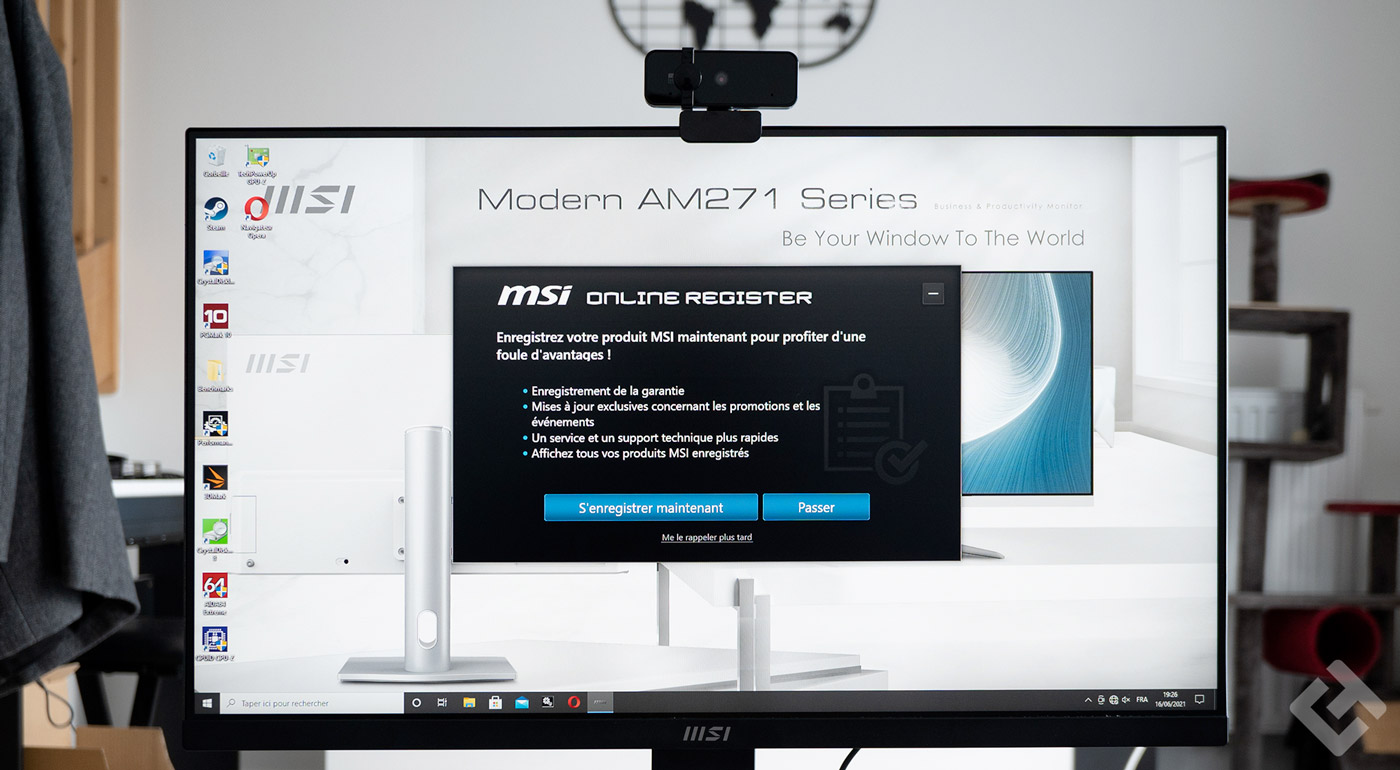 Test msi moden am241p