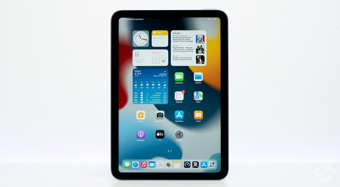 test de l'ipad mini 6